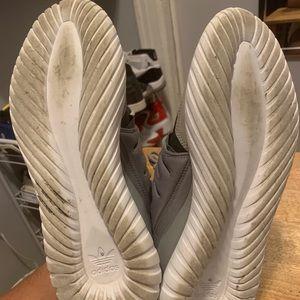 Grey adidas tubular
